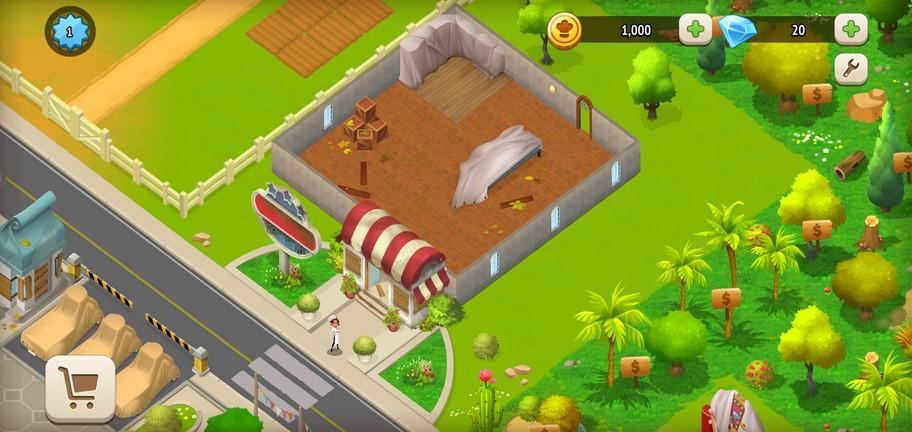 Экран игры Tasty Town
