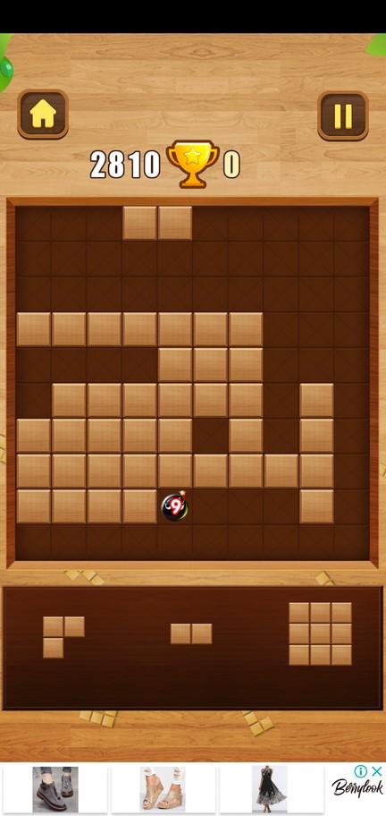 Еще бомба в Wood Block Puzzle