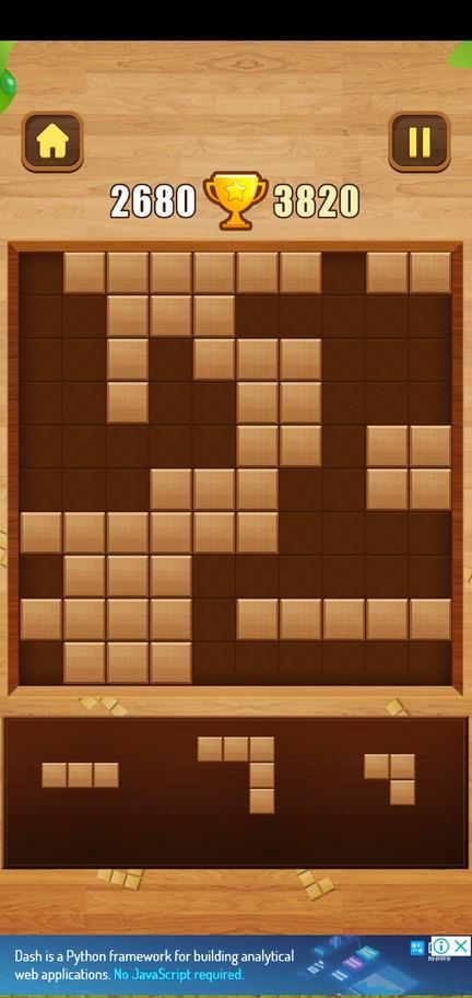 Геймплей в Wood Block Puzzle