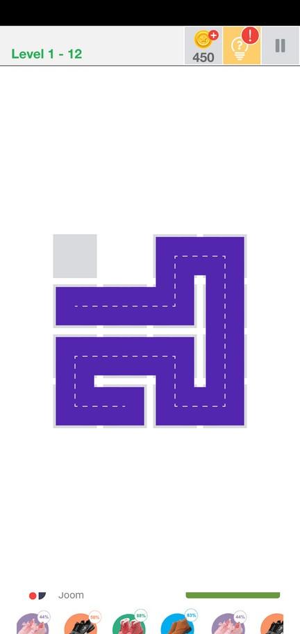 Почти у цели Fill one-line puzzle game