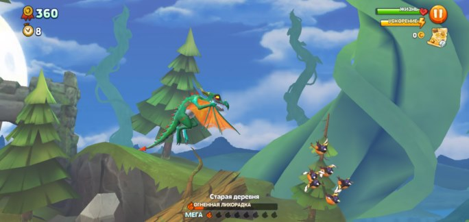 Геймплей Hungry Dragon