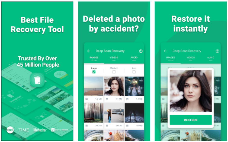 Best File  Recovery Tool  Trusted By Over  Million people  Deleted a photo  by accident?  Restore it  instantly